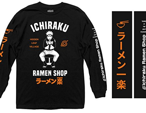 Ripple Junction Naruto - Shippuden Ichiraku Ramen Shop Adult Long Sleeve Shirt 2XL Black for $<!--$31.99-->