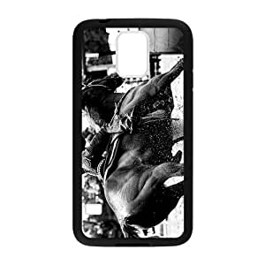 Canting_Good Barrel Racing Cowgirl Custom Case Shell Skin for Samsung Galaxy S5 (Laser Technology)