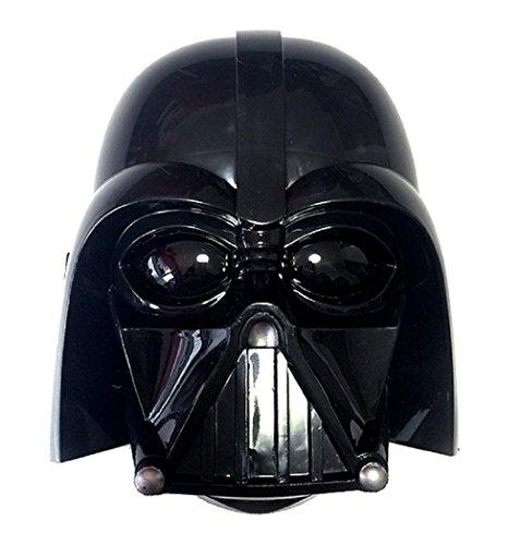 Darth Vader 1/2 Mask - Starwars Avengers Hulk Ironman Spiderman Batman Transformer Shrek Psy Plastic Mask (Light Up Darth Vader)
