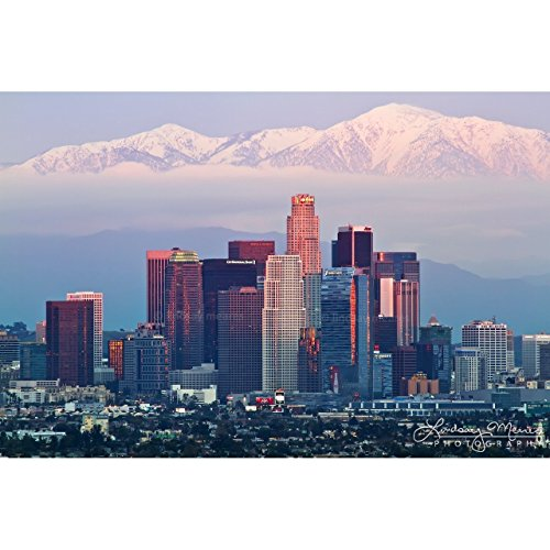 Los Photograph Angeles Angels (Los Angeles Photo Print, 'L.A. Skyline' by TravLin Photography, Multiple Sizes (5x7 to 24x36))