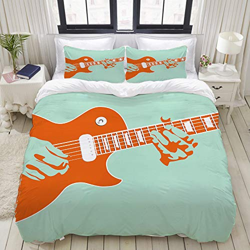 cool guitar print bedding sets