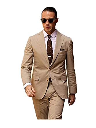 cbe1920839 Amazon.com  BOwith Men Suits Slim Fit Costume Wedding Dress Groom Tuxedos  Prom Suits (Jacket+Pant)  Clothing