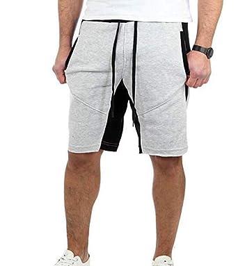 Hellomiko Pantalones Cortos a Rayas para Hombre Pantalones Cortos ...