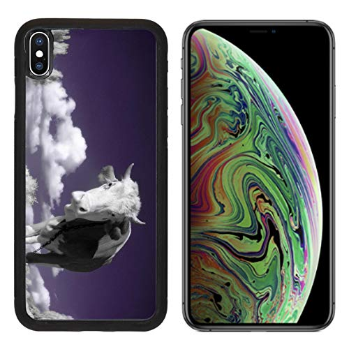 MSD Apple iPhone Xs MAX Case Aluminum Backplate Bumper Snap Case Image ID: 4751899 A Cow is in The Field is in an Infra red Color Shoot Special photocam ()