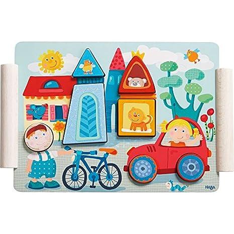 Motorikspielzeug HABA Steckspiel Katze & Maus Holzspielzeug Motorik Spielzeug für Kinder 302925# Steckspiele