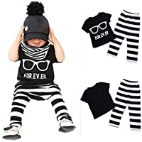 FEITONG 1Set Newborn Toddler Baby Boys Girls Outfit T-shirt Tops+Pants Clothe...