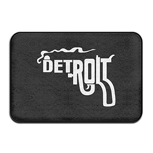 Detroit Tigers Floor Rug (Luxury Hotel Door Floor Mat Detroit Smoking Gun Bedroom Mat)