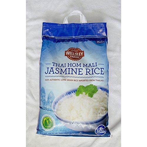 Wellsley Farms Thai Hom Mali Jasmine Rice, 25 lb. (pack of 2) by Wellsley Farms