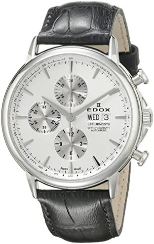 Edox Men s 01120 3 AIN Les Bemonts Analog Display Swiss Automatic Black Watch
