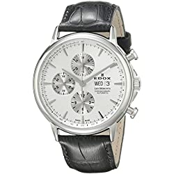 Edox Men's 01120 3 AIN Les Bemonts Analog Display Swiss Automatic Black Watch