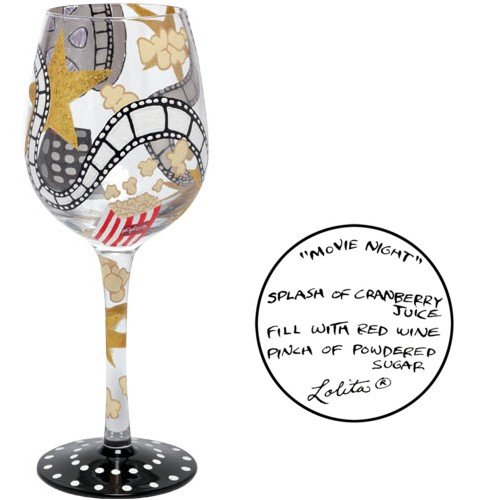 Lolita Glasses - ''Movie Night'' 2010 New Wine Glass JUST IN! by Unknown