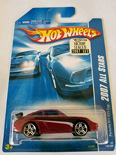 Hot Wheels 2007 Factory Sealed Set Exclusive All Stars - Porsche 911 GT3 Cup (Porsche Gt3 Cup)