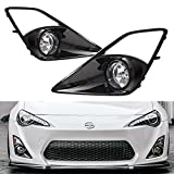 yellow fog lights frs - iJDMTOY Complete Set JDM Fog Light Kit For 2013-2016 Scion FR-S w/High-Gloss Bezel Covers and Complete Relay Harness w/ Switch
