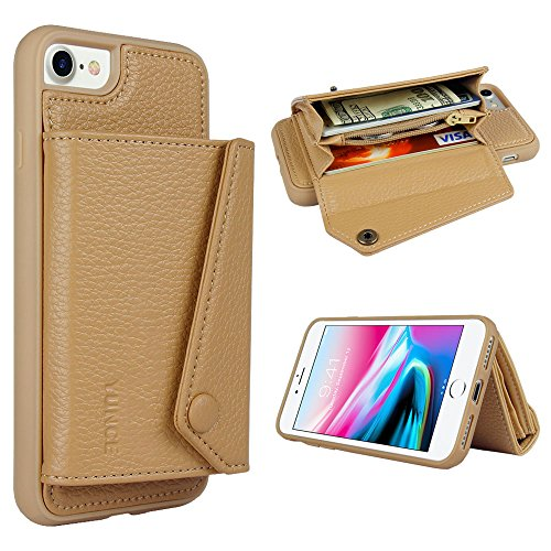 Iphone 8 Wallet Case  Iphone 7 Card Holder Case  Yunce Iphone 8 Slim Leather Case With Durable Id Credit Card Pockets  Kickstand Cover For Apple Iphone 7   Iphone 8 4 7  Khaki