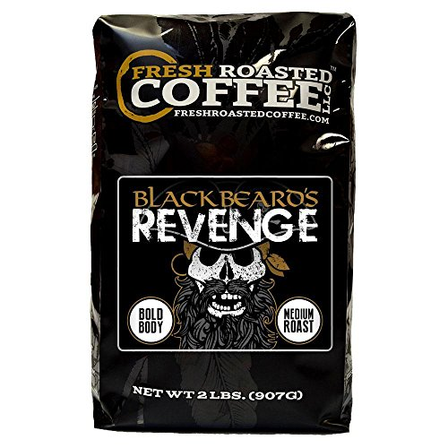 Blackbeard's Revenge Coffee, Artisan Blend, Whole Bean Bag, Fresh Roasted Coffee LLC. (2 LB.)