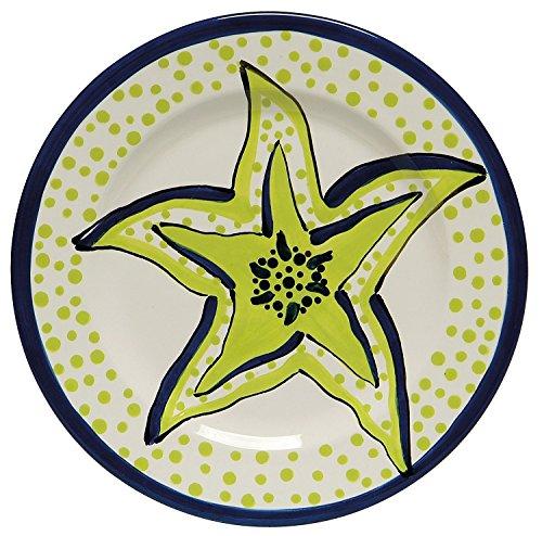 Caffco International Dana Wittmann Collection Ceramic Plates  Set Of 4  10 5 Inches In Diameter  Starfish