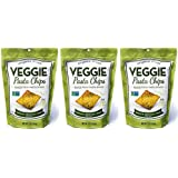 Vintage Italia Authentic Italian Baked Veggie Pasta Chips Spinach Broccoli Kale, 5 Oz. - Pack of 3