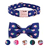 Pet Soft&Comfy Bowtie Dog Collar and Cat Collar Pet Gift For Dogs and Cats Adjustable Pure Cotton Collars 6 Sizes and 5 Patterns