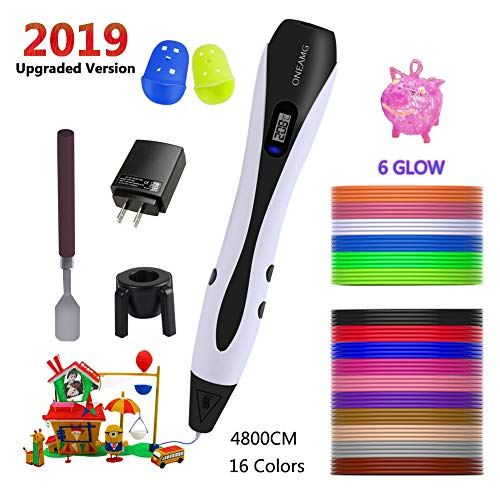 DIY 3D Printing Pen USB Writing Pens for Kids Art Modeling 2019 3D Printer Drawing Pen Handheld Digital Safety Stereo Toys for Teens,Adults