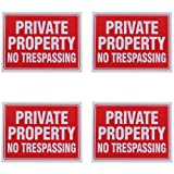 Private Property No Trespassing Sign 9 x 12 Inch