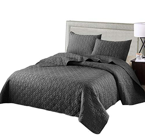 Best Price Exclusivo Mezcla 3-Piece Queen Size Quilt Set with Pillow Shams, as Bedspread/Coverlet/Be...