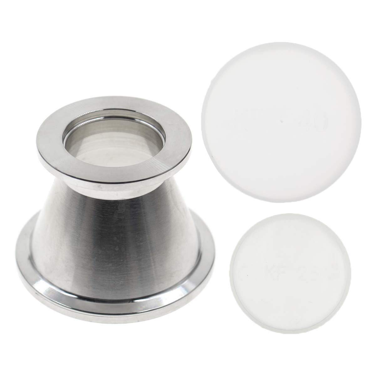 AUTOKAY Stainless Steel KF-40 (NW-40) to KF-25 (NW-25) Conical Reducer Stainless Steel Vacuum Conical Reducer Adapter