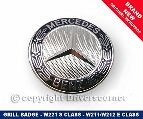 Mercedes-benz emblema estrella w211 w212 clase e w221 clase s a2218170016