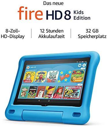 Das neue Fire HD 8 Kids Edition-Tablet, 8-Zoll-HD-Display, 32 GB, blaue kindgerechte Hülle