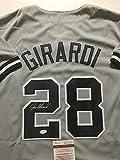 Autographed/Signed Joe Girardi New York Yankees Grey Baseball Jersey JSA COA