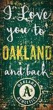 Fan Creations MLB Oakland Athletics I Love You to Signoakland Athletics I Love You to Sign, Team, One Sizes