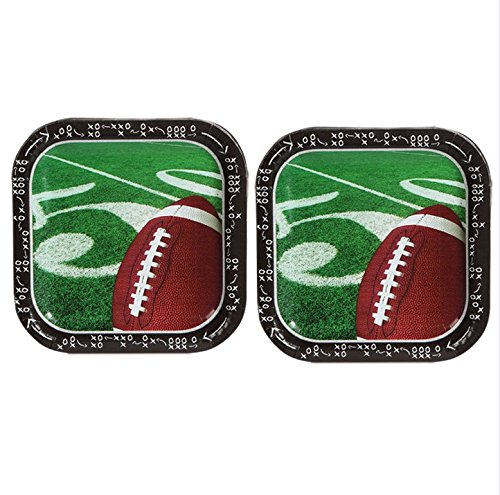Football Themed Paper Plates 2 Packs 28 Plates -