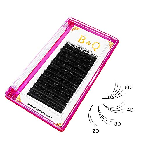 Volume Lash Extensions 0.05/0.07/0.10 mm Easy Fan Lashes 2D 3D 4D 5D 6D 10D 20D Russian Volume Eyelashes Extensions 8-15 Mix Length (D-0.05 mm, 8-15 Mix)