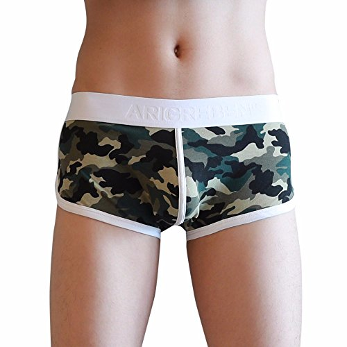 NEARTIME Men's Underwear, Classic Briefs Man Flower Print Boxer Under Wear Full -