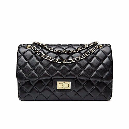 Lady Diamond Chain Bag, bolso de hombro, bolso, bolso del mensajero, bolso,Cadena de oro rojo Cadena de Oro Negro