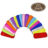 BAKHUK 20pcs Ice Pop Sleeves 10 Color Popsicle Holders Bags