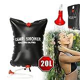 Enshey Outdoor Shower Bag- 20L Portable Water Bag 5 Gallons Shower Hiking Bag Camping Solar Heated Shower Wonderful Bath Travel Kits
