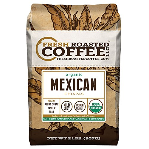 Mexican Chiapas Organic Coffee, Whole Bean, Fresh Roasted Coffee LLC (2 lb.)