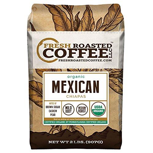 Roasted Whole Bean (Mexican Chiapas Organic Coffee, Whole Bean, Fresh Roasted Coffee LLC (2)