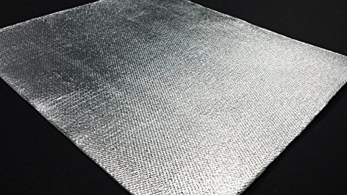 Aluminum Heat Shield Protection with Fiberglass and Self-Adhesive Backing Heat Barrier (1 Sq ()