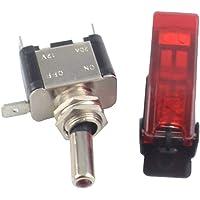 12V / 20A Auto Switch on/Off SPST Interrupteur à Bascule LED allumé (Rouge)