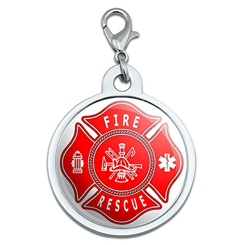 fire-and-rescue-maltese-cross-red-large-chrome-plated-metal-pet-dog-cat-id-tag