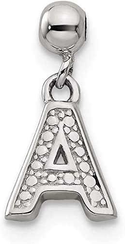 Jewels By Lux 925 Sterling Silver Mens Women Initial D Charm Pendant