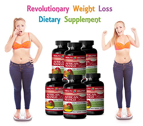 African mango powder extract - AFRICAN MANGO LEAN Extra strength Formula 1200mg - Weight loss antioxidant complex (6 Bottles 360 capsules)