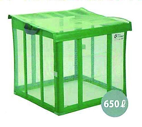 カラス寄せ付けない 犬猫侵入防止 ゴミ収納ハウスネット グリーン 軽量 コンパクト 折りたたみ式 250L B077S4JGCG 15100