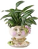 Victorian Lovelies Sculpted Pottery Indoor Head Planter: Mornin' Gloria