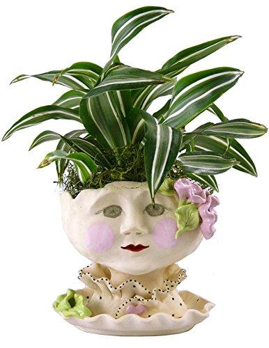 Victorian Lovelies Sculpted Pottery Indoor Head Planter: Mornin' Gloria by Modern Artisans