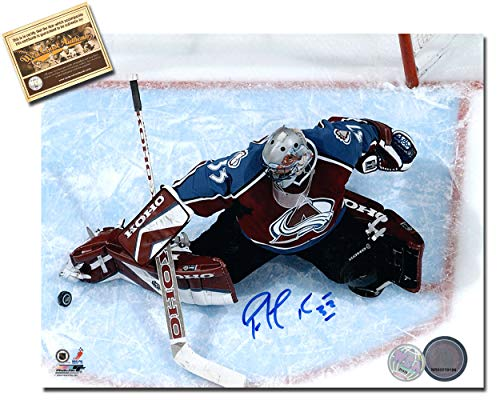 (Patrick Roy Autographed 8 x 10 Hockey Photo Memorabilia Certified with WCA Dual Authentication Holograms and COA)