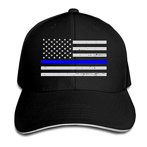 Hioyio Thin Blue Line American Flag Sandwich Peaked Hat & - Clothing Prada Line