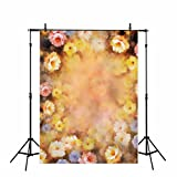 Funnytree vinyl 5x7ft children's photography backdrop bokeh yellow flower portrait background family birthday party banner Newborn Photographic studio prop props photo studio booth