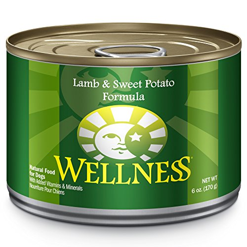 Wellness Complete Health Natural Wet Canned Dog Food, Lamb & Sweet Potato, 6-Ounce Can (Pack Of 24)